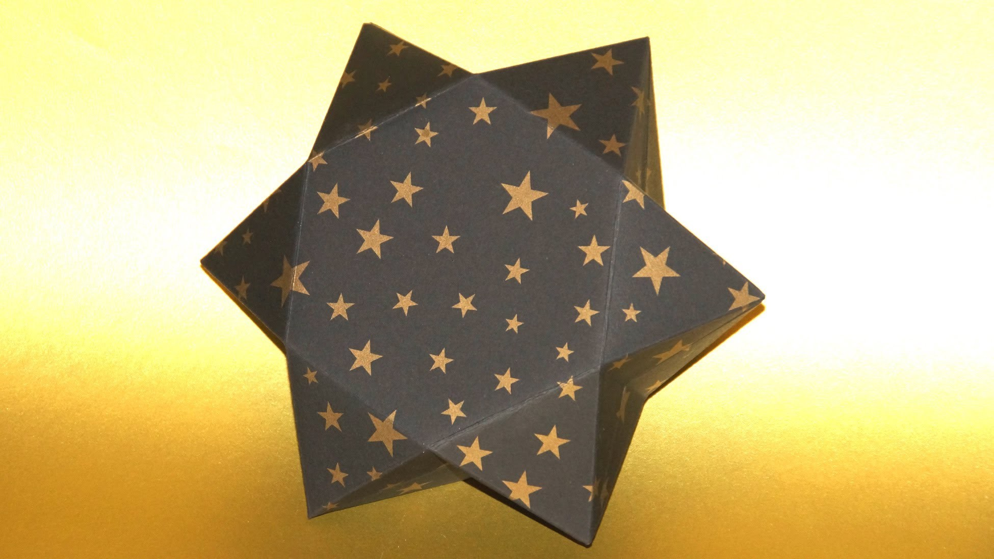 Sterne basteln.  eine Stern - Geschenkbox falten.  How to make a Star Gift Box