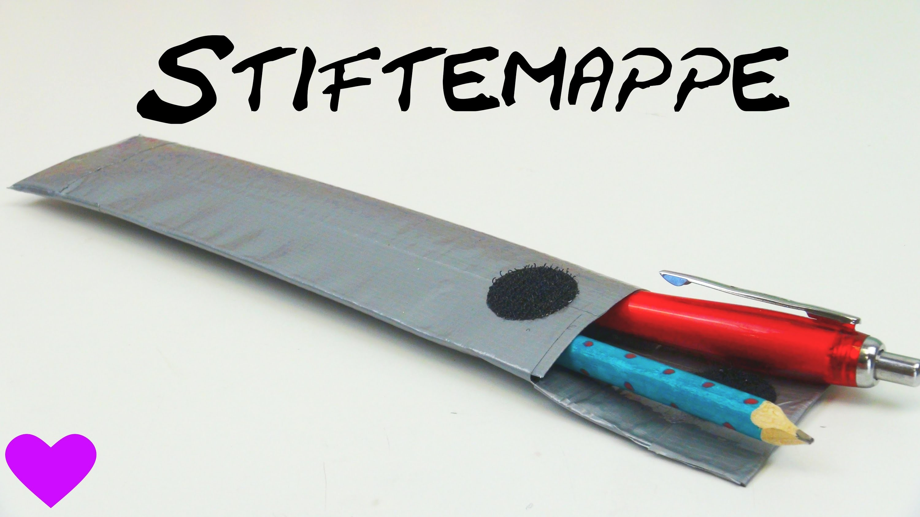 Stiftemappe basteln aus Panzertape. How to make an easy Pencil Case with Duct Tape | deutsch