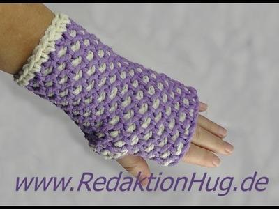 Tunesisch Häkeln - Armstulpen aus Hatnut XL 55 von Pro Lana - Veronika Hug