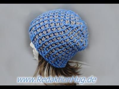 Tunesisch Häkeln - Mütze mit 15er Nadel aus hatnut cool von Pro Lana - Veronika Hug