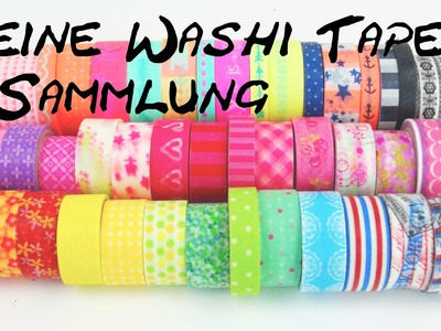 WASHI Tape Sammlung. Collection Haul. Meine Washi Tape Klebeband Ideen DIY | deutsch
