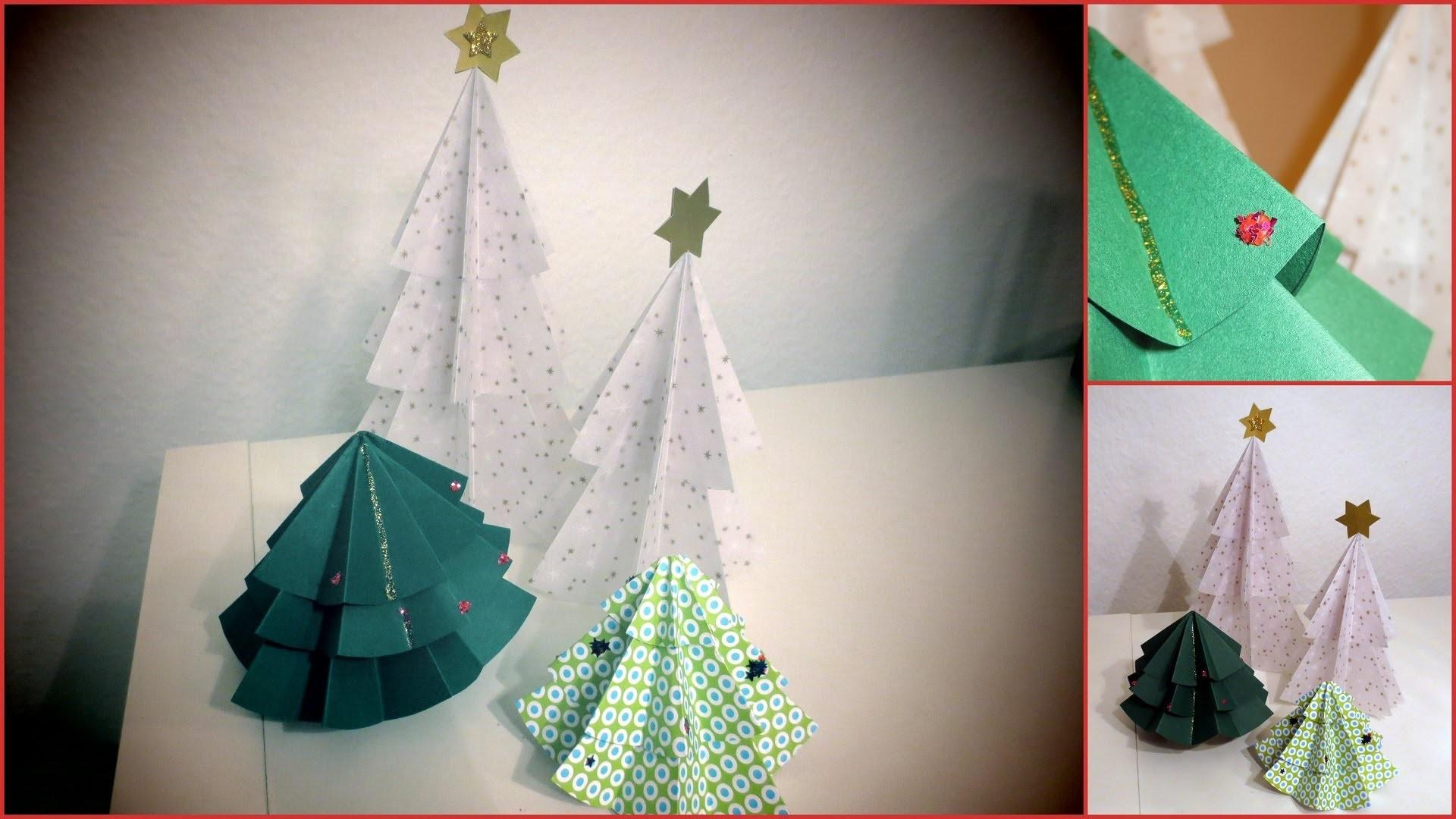 Weihnachtsbäume basteln