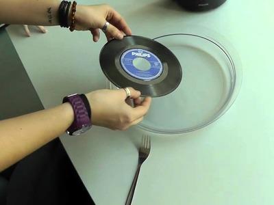 Absolut Vinyl - Schallplatten im Wasserbad als Deko formen