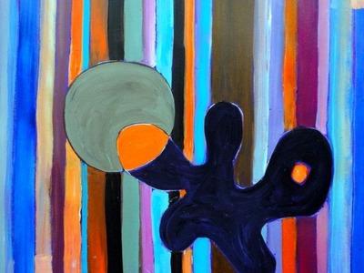 Acrylmalerei abstrakt   Streifen und Formen