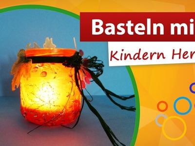 ♥ Basteln mit Kindern Herbst ♥ Windlicht selber machen - trendmarkt24
