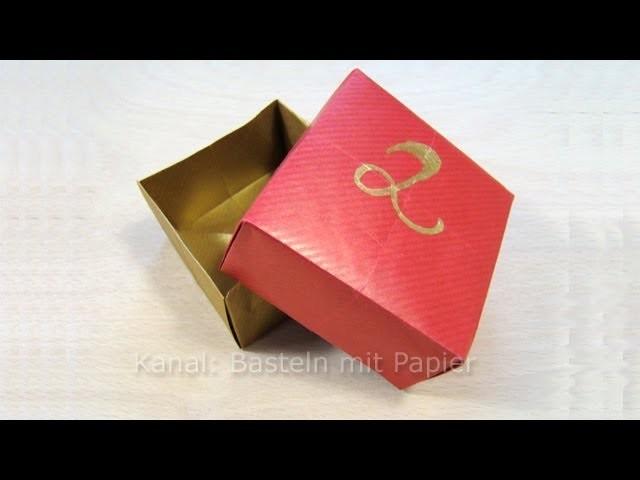 Box. Kiste. Schachtel basteln z.B. als DIY Geschenkverpackung