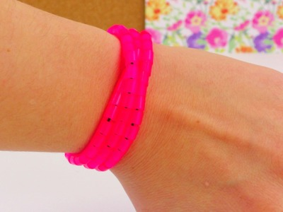 Bügelperlen Armband DIY. Armband mit Hama-Perlen How To Anleitung. Pearl Bracelet DIY deutsch