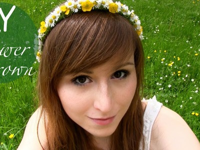 DIY Blumen-Haarkranz aus echten Blumen
