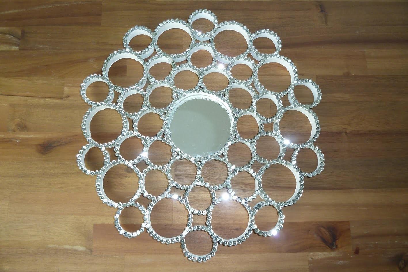 DIY: Deko Pailletten Spiegel aus Papprollen selbst machen | Deko-Kitchen