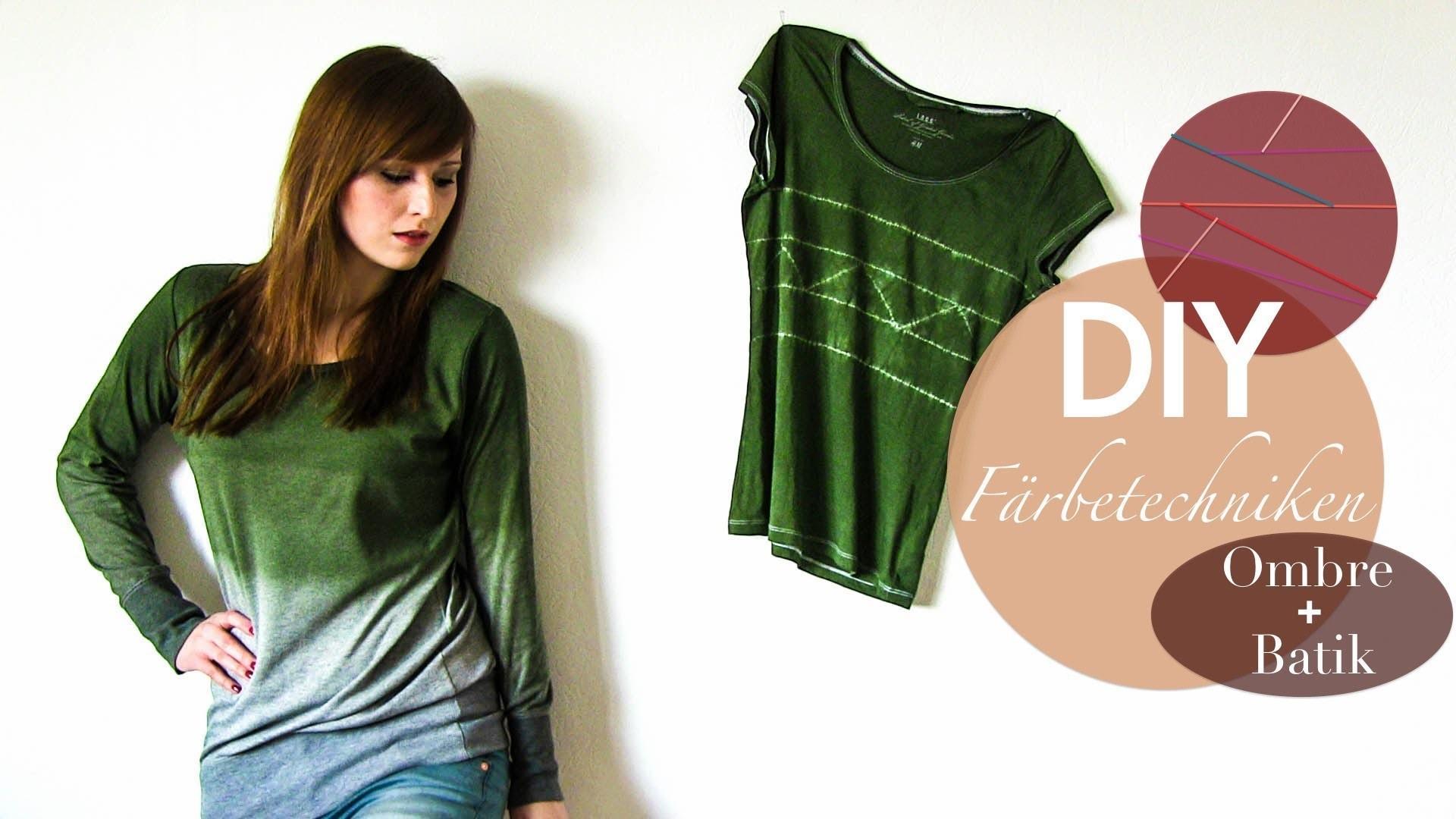 DIY Färbetechniken - Ombre Shirt + Ethno Style T-Shirt