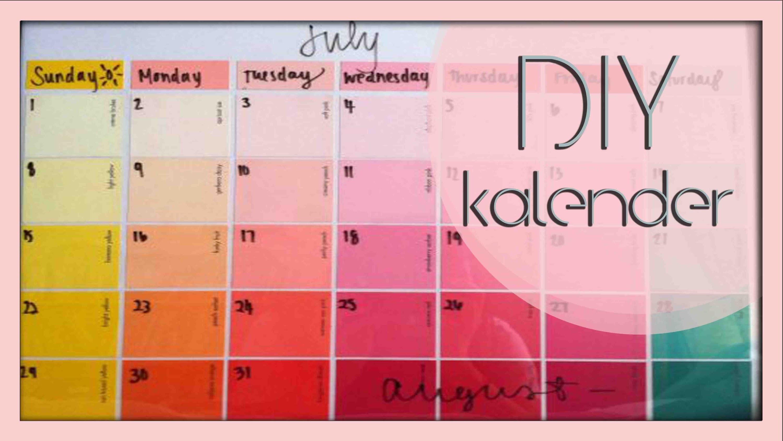 DIY I Kalender, organisation ist alles