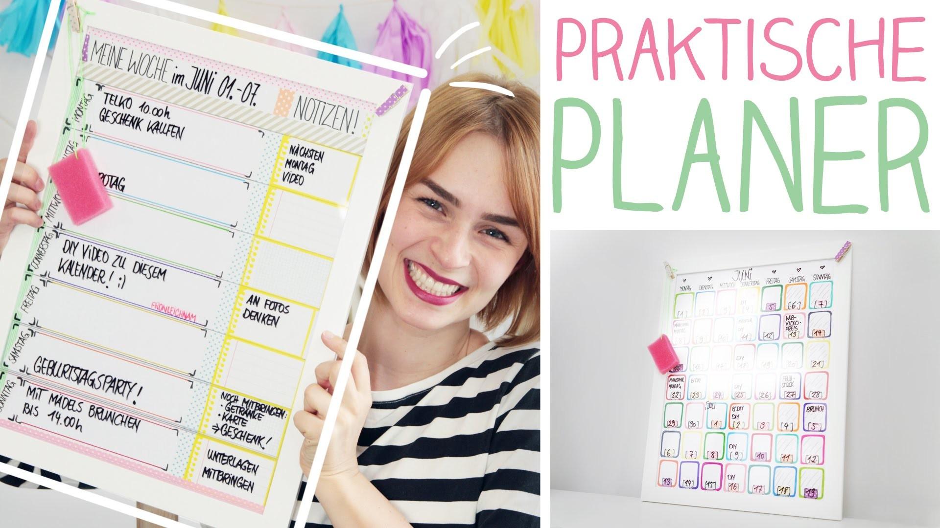 DIY Wochen-, Monatsplaner mega easy - Kalender selbst gestalten - Bilderrahmen - alive4fashion