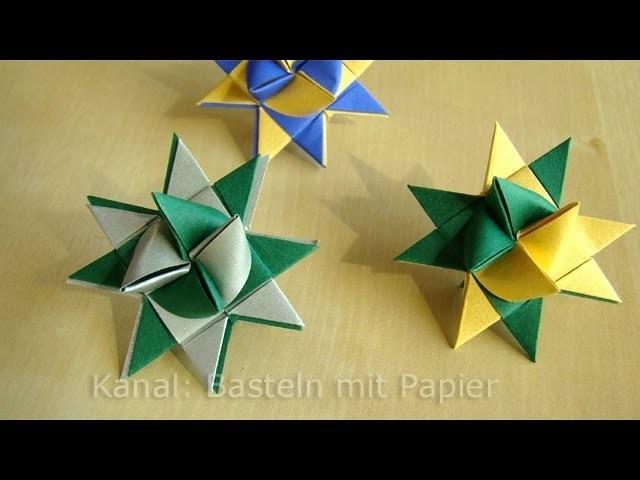 Fröbelstern basteln - Anleitung zum Weihnachtssterne basteln