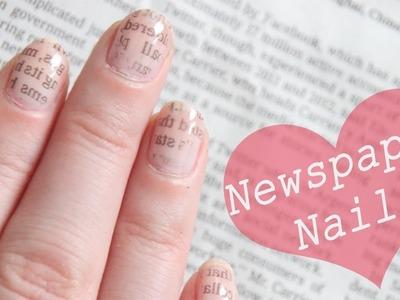 Newspapernails by CiraLaMare