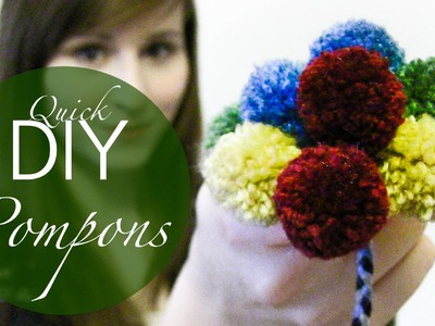 Quick DIY Mini PomPons