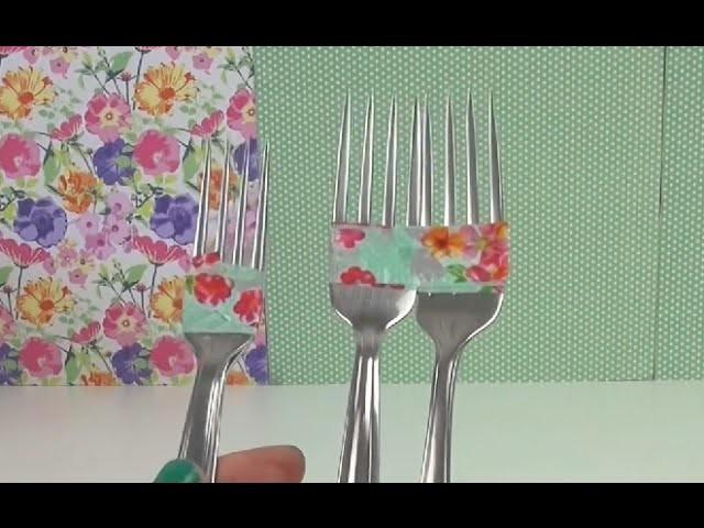 Rainbow Loom Gabeltechnik deutsch - Gabeln zusammenkleben Anleitung How to make loom bands with fork