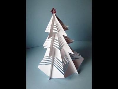 3D-Weihnachtsbaum aus Papier basteln