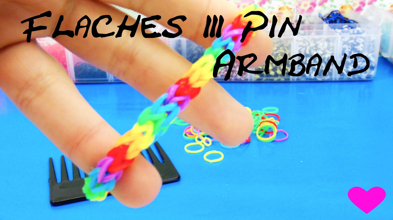 Armbänder aus Gummiringen 3Pin Fischgrät-Armband Fishtail Regenbogen Bracelet deutsche Anleitung