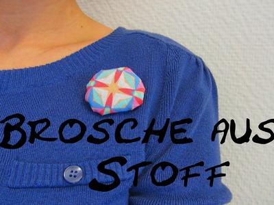 Brosche aus Stoff DIY. Accesoires für die Kleidung selber gestalten Tutorial | deutsch