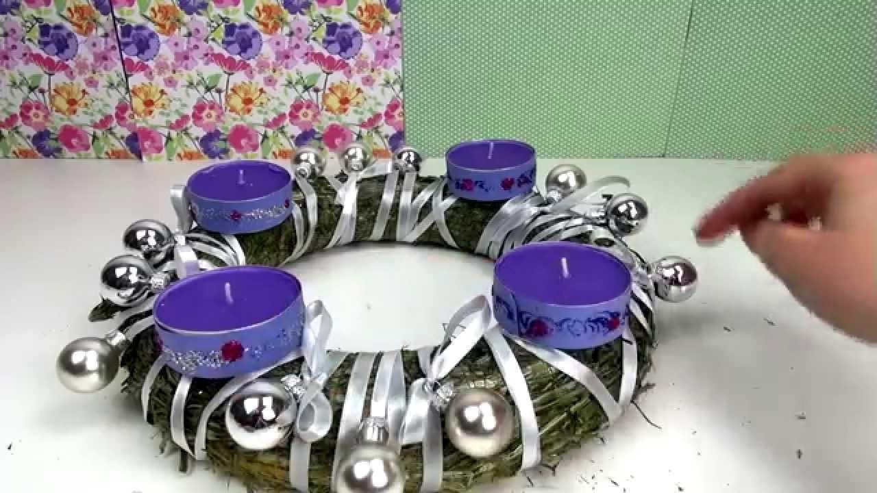 DIY Adventskranz schnell und einfach Weihnachten Deko Kerzen Advent Dezember easy