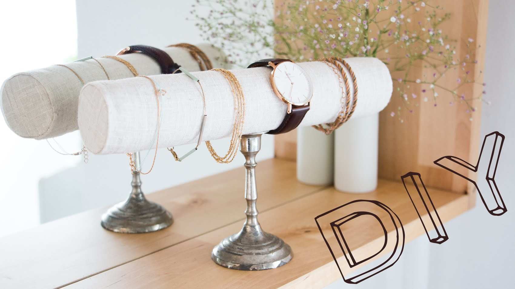 DIY Armband- & Uhrendisplay - Upcycling