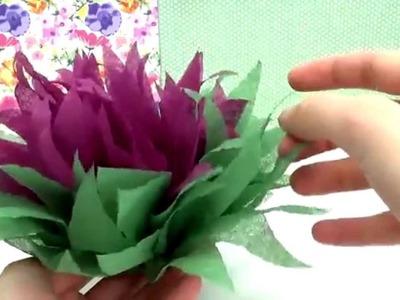 DIY Weihnachtsstern Blume aus Servietten falten Tutorial. Blumen falten Anleitung| deutsch