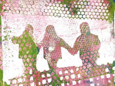 Gelatine-Drucke von Workshop-Teilnehmern (3), gelatin prints of workshop participants