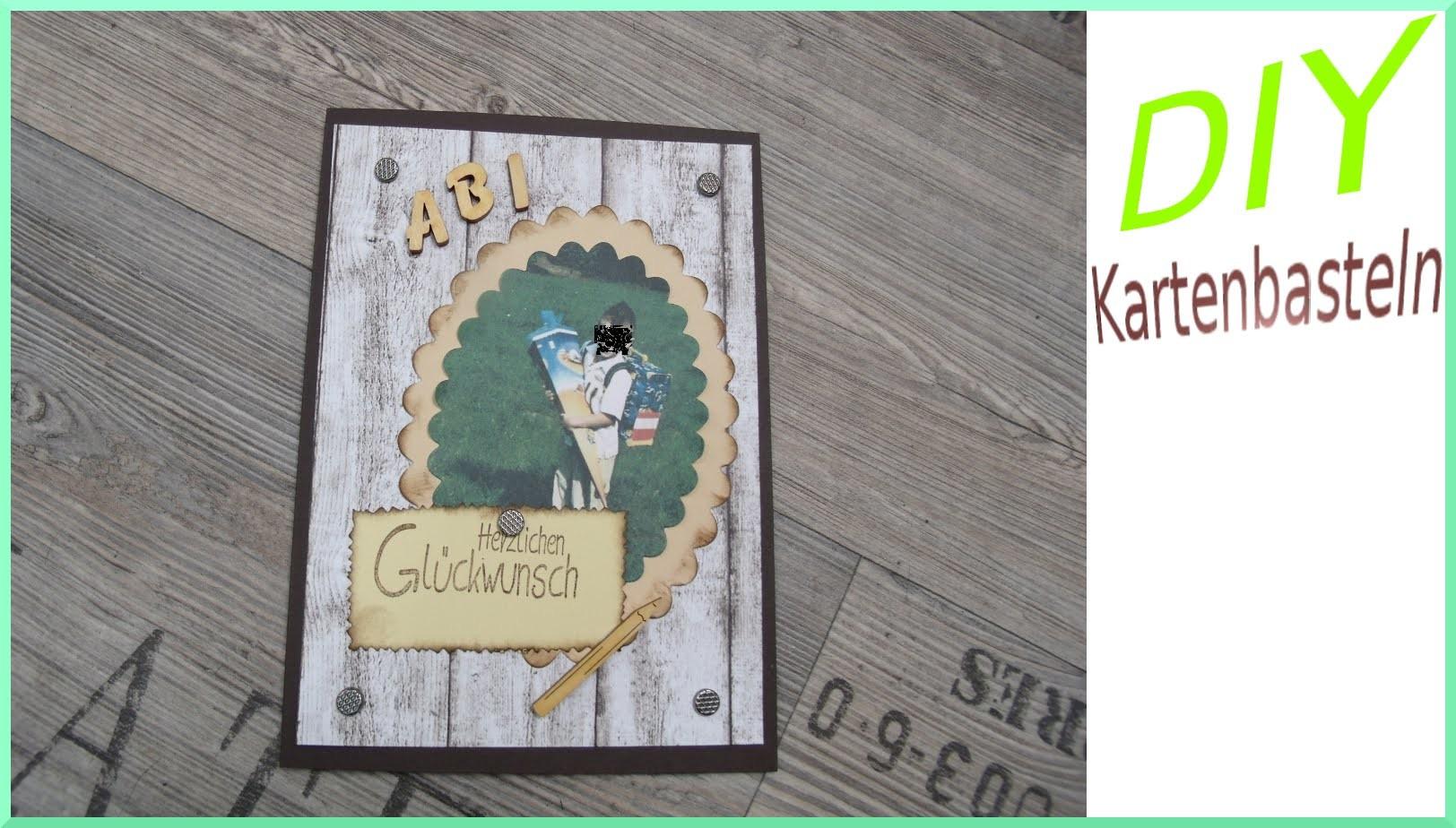 Karte zum ABI basteln DIY - mit Scalloped Oval - cardmaking