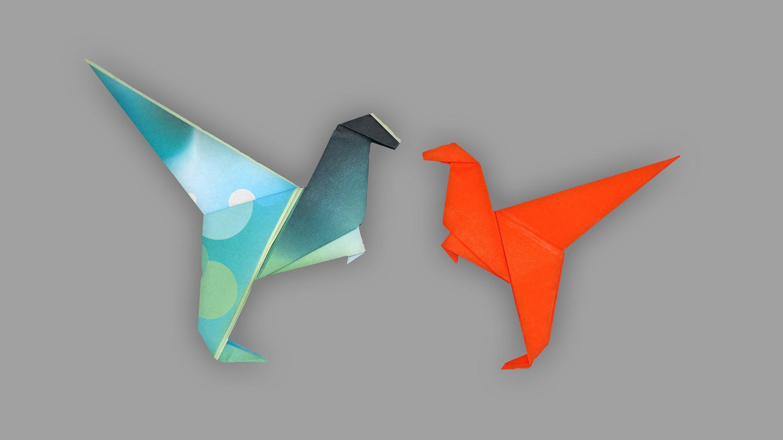 Origami Dino (T-Rex): Faltanleitung (Live erklärt)