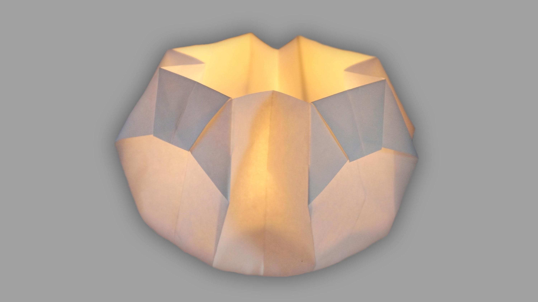 Origami Laterne: Schale fürs Teelicht - Faltanleitung (Live erklärt)