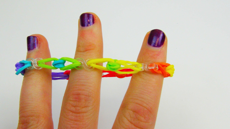 Rainbow Loom S-Clip Bracelet. Armband S- Clip mit Perlen Anleitung mit Häkelnadel | deutsch