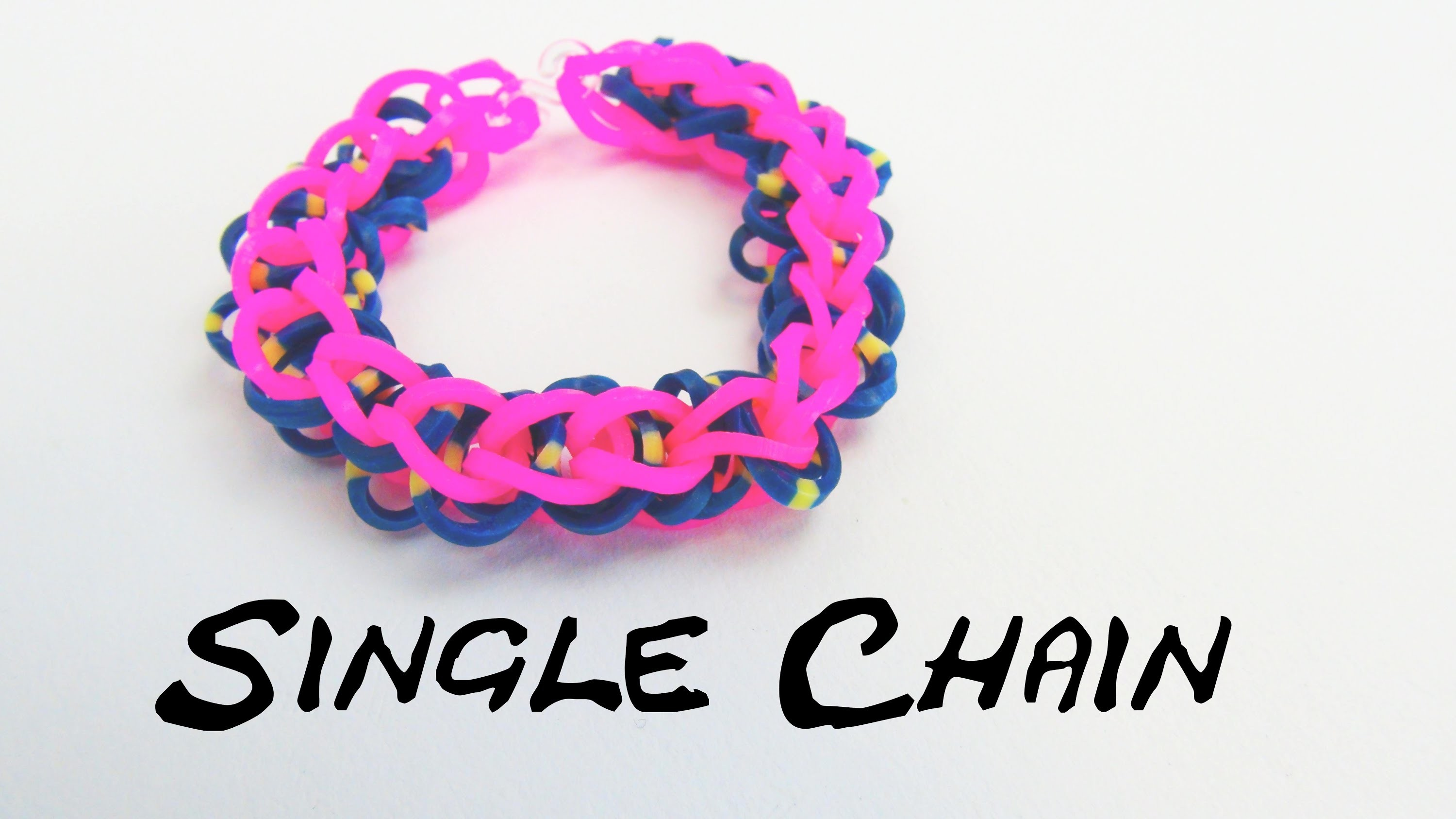 Rainbow Loom Single Chain Kreis Bracelet. Armband mit Kreisen DIY Anleitung | deutsch