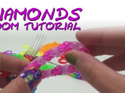 Silly Bandz Diamond bracelet Rainbow Diamanten Armband Loomband Armband deutsche Anleitung mit Gabel