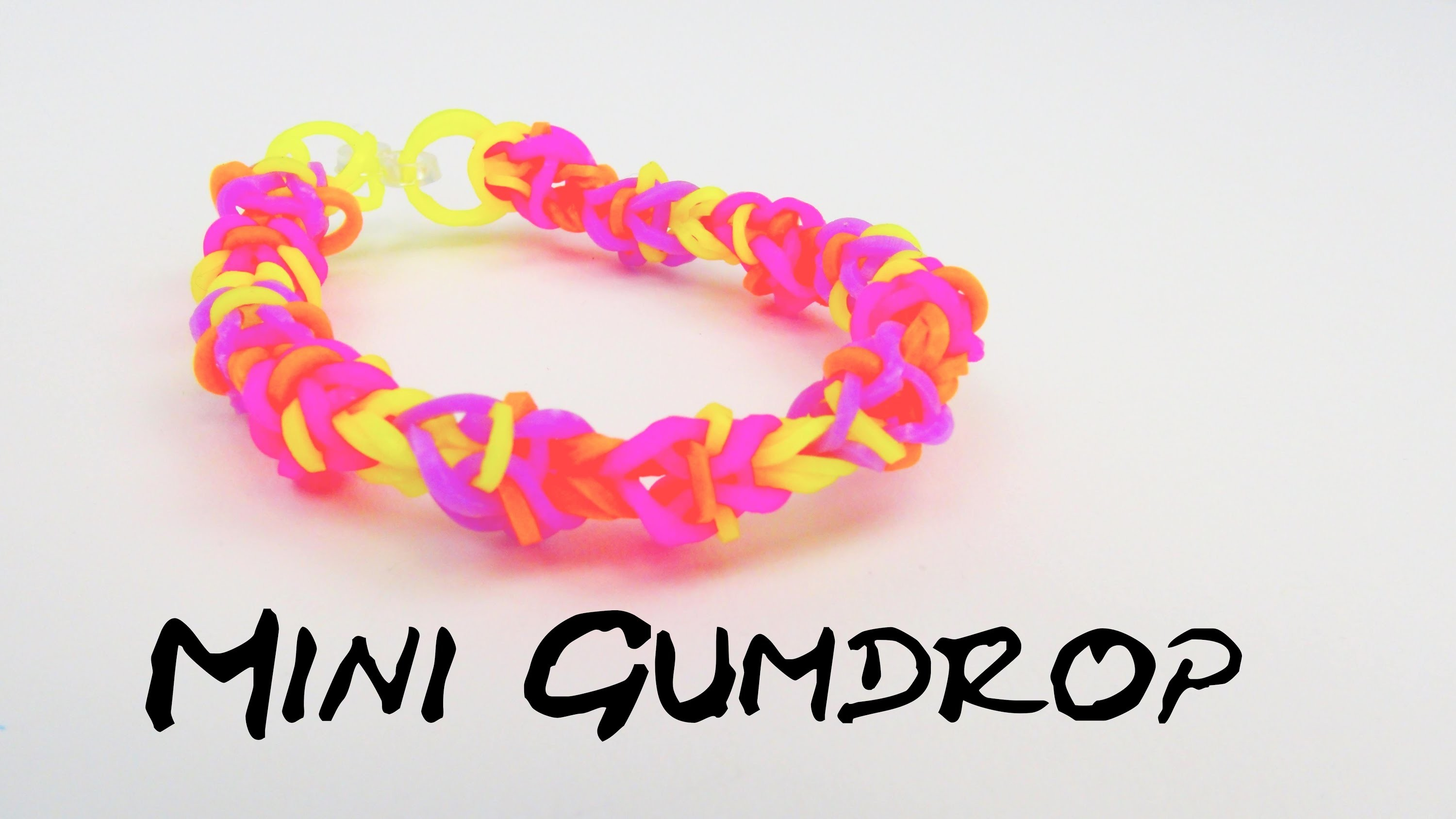 Gumdrop Bracelet. Mini Gumdrop Rainbow Loom Band Armband DIY mit GABEL | deutsch