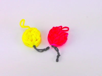 Loom Bands Ballon Anhänger Anleitung deutsch. Balloon Charm Rainbow Loom How To | deutsch