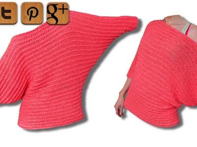 Valentine Pullover Linkshänder Häkelanleitung - © Woolpedia