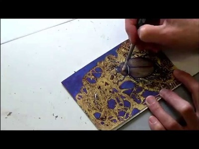 Acrylmalerei   Folientechnik mit Metallic   Farben, Teil 2