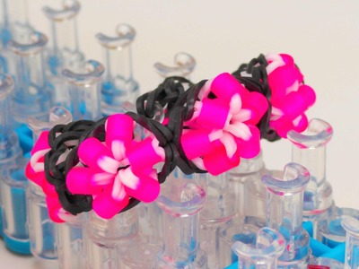 Bügelperlen Blumen Loom Band Armband. Flower Bracelet with Pearls DIY Perlenarmband | deutsch