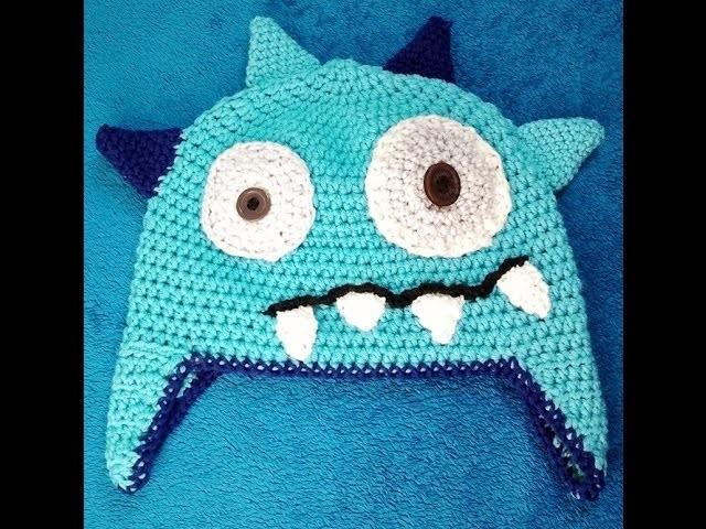 Ellis Monstermütze mit Ohrenklappen häkeln Schachenmayr Baby Super Soft