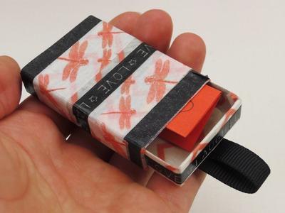 Geschenk Gutschein in einer Schachtel - Geldgeschenk - Upcycling Washitape Idee