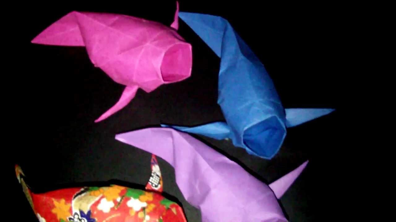 Origami Koi Karpfen: Faltanleitungen [HD]