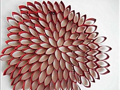 Schöne Wanddeko Ideen mit Toilettenpapierrollen zum Selberbasteln