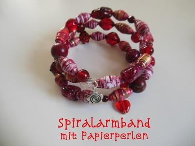 Spiral-Armband mit Papierperlen einfach selbst gemacht