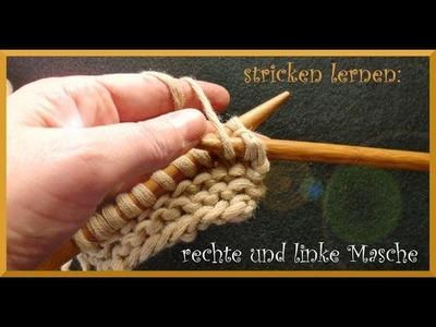 Stricken lernen #2: rechte und linke Masche stricken