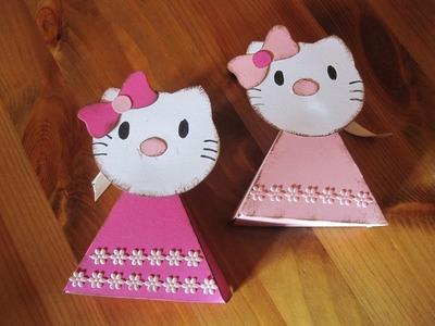BASTELN MIT PAPIER: Kätzchen Schachtel basteln - Bastelideen Kinder