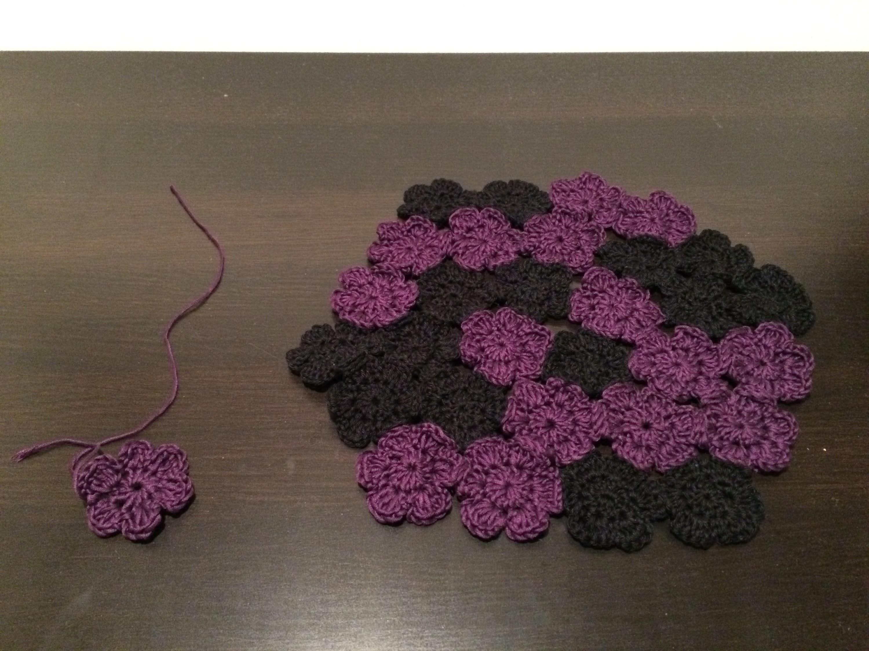 Blume häkeln inklusive Dekoidee