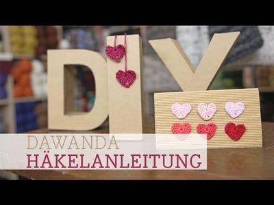 DaWanda Häkelanleitung: Herz für Verliebte