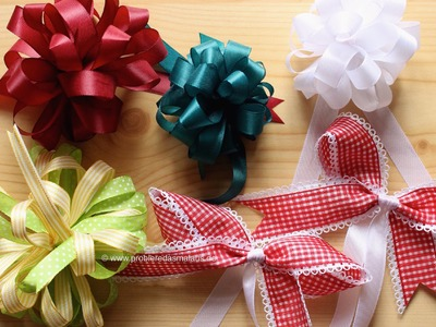 DIY Geschenkschleifen binden. 5 Varianten. © Probiere das mal aus!