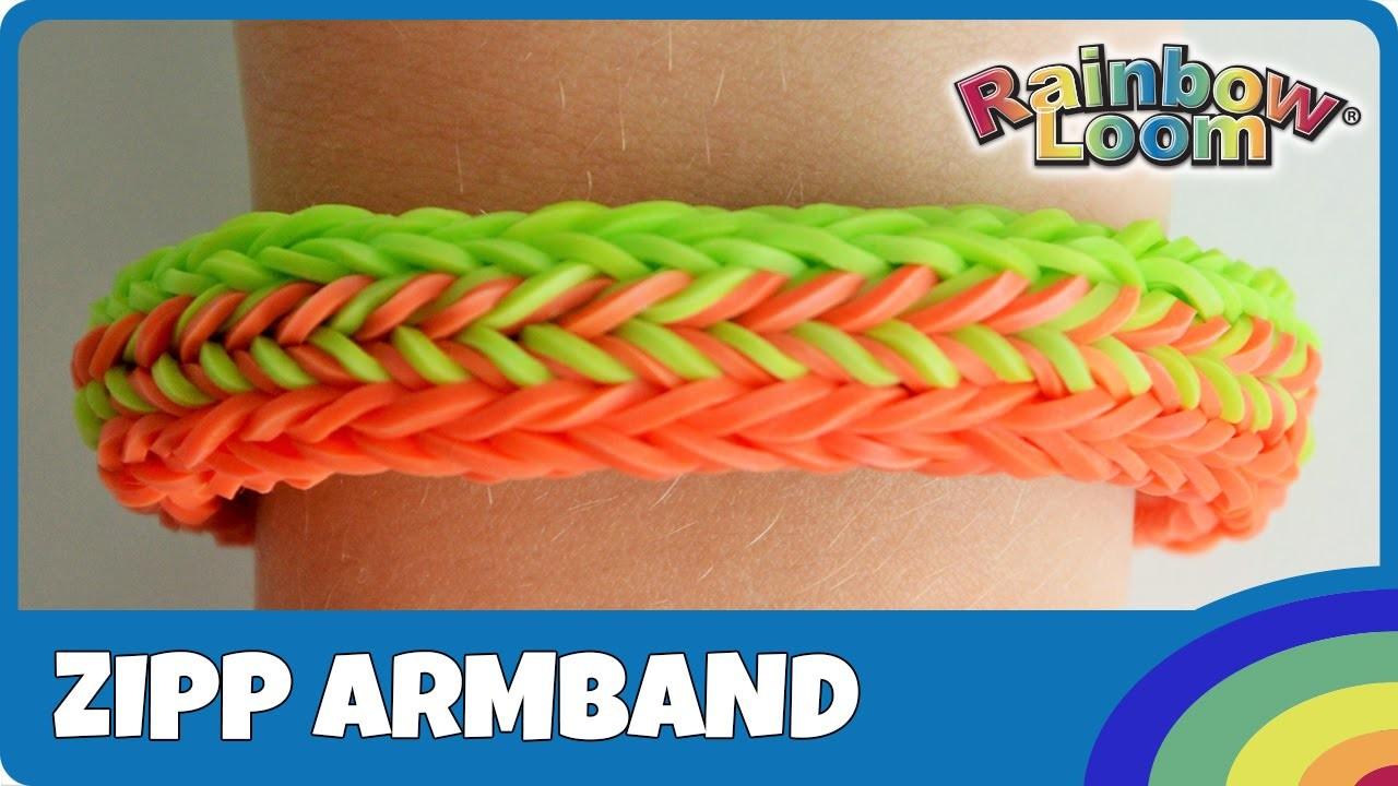 Rainbow Loom Zipp-Armband mit MonsterTail - deutsche Anleitung