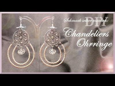 Schmuck selber machen: Chandeliers Ohrringe [DIY]